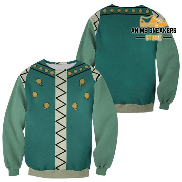 Illumi Zoldyck Hunter X Uniform Shirt Hxh Anime Hoodie Jacket Sweater / S All Over Printed Shirts