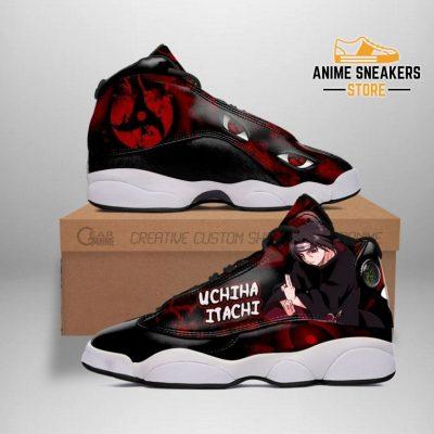 Itachi Sneakers Sharingan Eyes Naruto Anime Custom Shoes Tt09 Men / Us6 Jd13