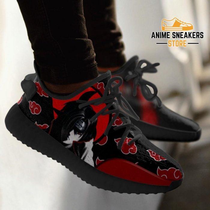 Itachi Yeezy Shoes Akatsuki Clan Naruto Anime Sneakers Fan Gift Idea Tt03