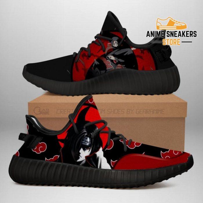 Itachi Yeezy Shoes Akatsuki Clan Naruto Anime Sneakers Fan Gift Idea Tt03 Men / Us6