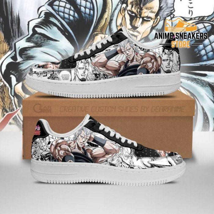 Jean Pierre Polnareff Sneakers Manga Style Jojos Anime Shoes Fan Gift Pt06 Men / Us6.5 Air Force