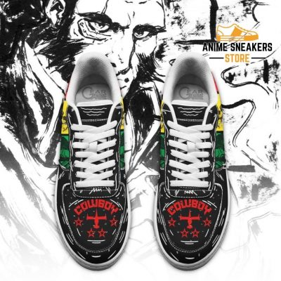 Jet Black Cowboy Bebop Sneakers Anime Custom Shoes Pt10 Air Force
