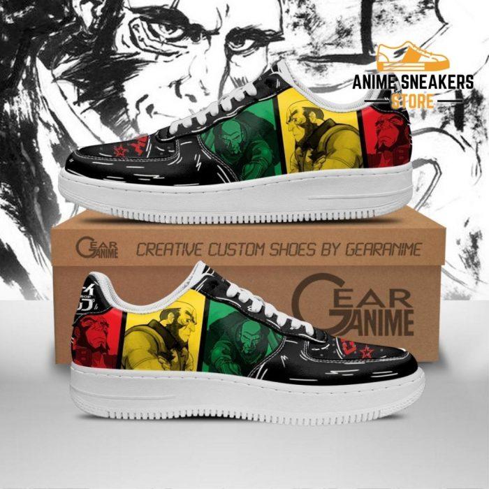 Jet Black Cowboy Bebop Sneakers Anime Custom Shoes Pt10 Men / Us6.5 Air Force