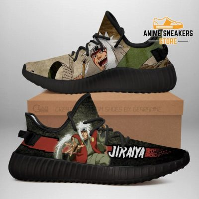Jiraiya Yeezy Shoes Naruto Anime Sneakers Fan Gift Tt03 Men / Us6