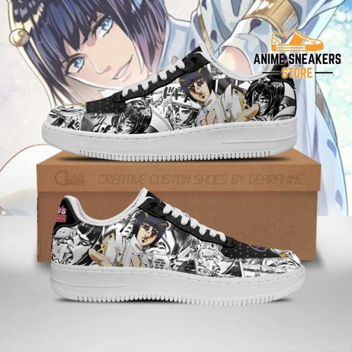 Bruno Bucciarati Sneakers Manga Style Jojos Anime Shoes Fan Gift Pt06 Men / Us6.5 Air Force