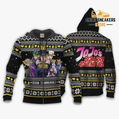 Jojos Bizarre Adventure Ugly Christmas Sweater Xmas Gift Va11 Zip Hoodie / S All Over Printed Shirts