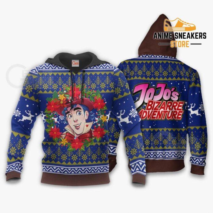 Jonathan Joestar Ugly Christmas Sweater Jojos Bizarre Adventure Anime Va11 Hoodie / S All Over