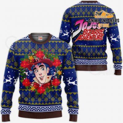 Jonathan Joestar Ugly Christmas Sweater Jojos Bizarre Adventure Anime Va11 / S All Over Printed