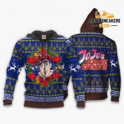 Jonathan Joestar Ugly Christmas Sweater Jojos Bizarre Adventure Anime Va11 Zip Hoodie / S All Over