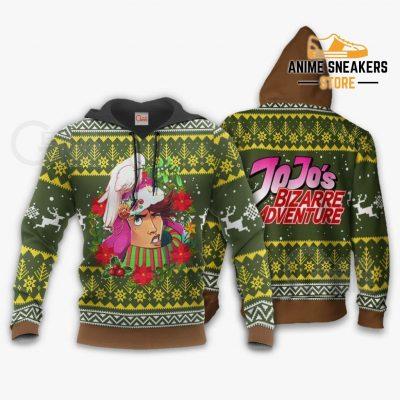 Joseph Joestar Ugly Christmas Sweater Jojos Bizarre Adventure Anime Va11 Hoodie / S All Over Printed