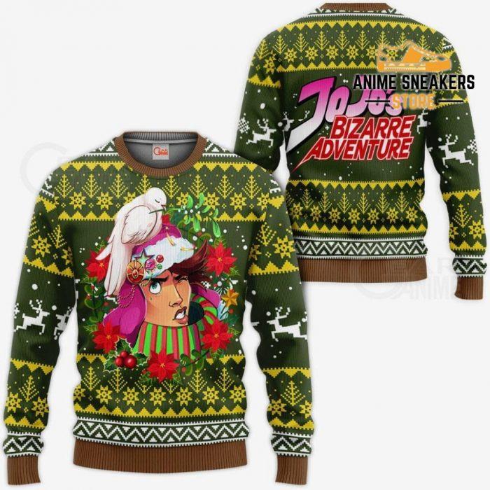 Joseph Joestar Ugly Christmas Sweater Jojos Bizarre Adventure Anime Va11 / S All Over Printed Shirts