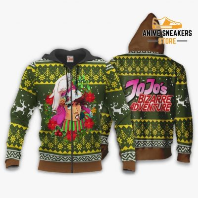 Joseph Joestar Ugly Christmas Sweater Jojos Bizarre Adventure Anime Va11 Zip Hoodie / S All Over