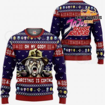 Joseph Joestar Ugly Christmas Sweater Oh My God Jojos Anime Va11 / S All Over Printed Shirts