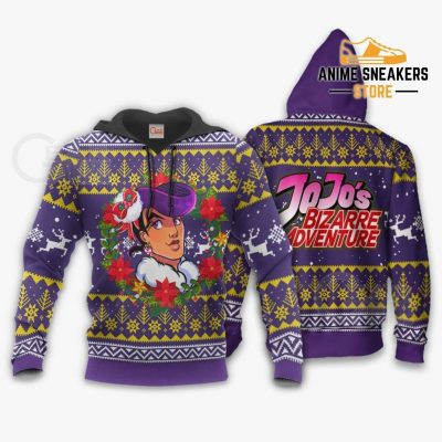 Josuke Higashikata Ugly Christmas Sweater Jojos Bizarre Adventure Anime Va11 Hoodie / S All Over