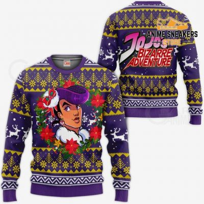 Josuke Higashikata Ugly Christmas Sweater Jojos Bizarre Adventure Anime Va11 / S All Over Printed