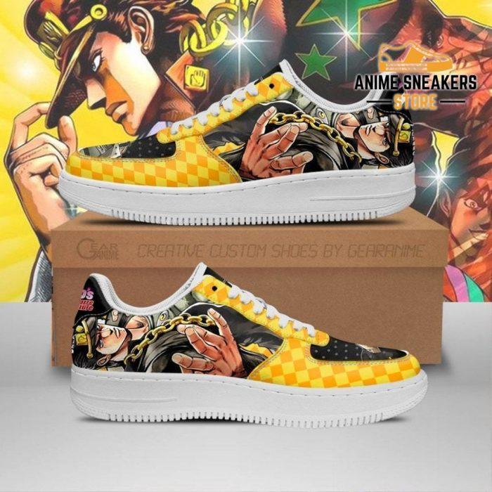 Jotaro Kujo Sneakers Jojo Anime Shoes Fan Gift Idea Pt06 Men / Us6.5 Air Force