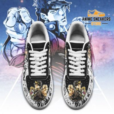 Jotaro Kujo Sneakers Manga Style Jojos Anime Shoes Fan Gift Pt06 Air Force