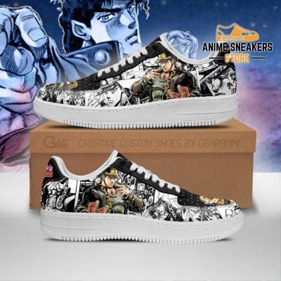 Jotaro Kujo Sneakers Manga Style Jojos Anime Shoes Fan Gift Pt06 Men / Us6.5 Air Force
