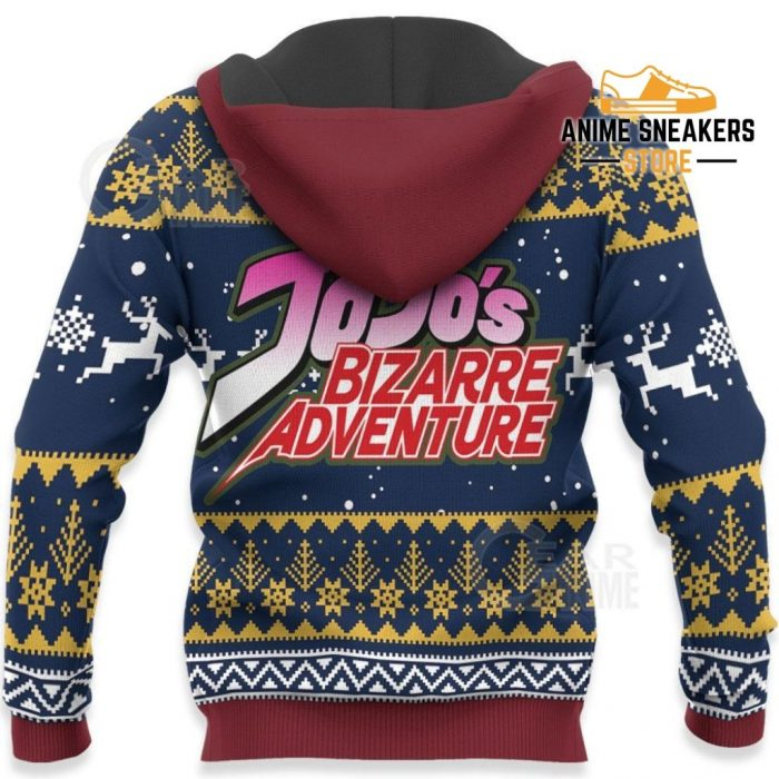 Jotaro Kujo Ugly Christmas Sweater Jojos Bizarre Adventure Anime Va11 All Over Printed Shirts
