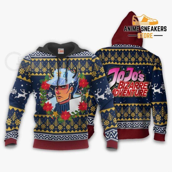Jotaro Kujo Ugly Christmas Sweater Jojos Bizarre Adventure Anime Va11 Hoodie / S All Over Printed