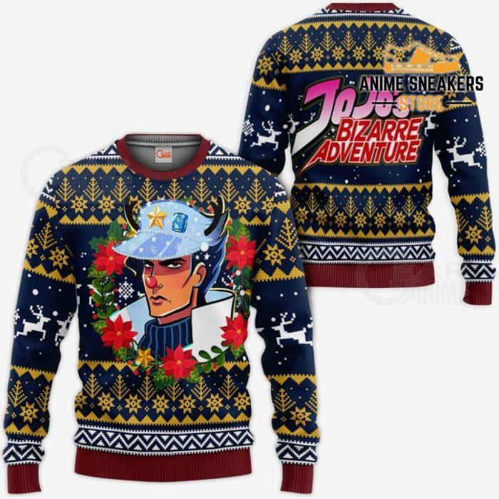 Jotaro Kujo Ugly Christmas Sweater Jojos Bizarre Adventure Anime Va11 / S All Over Printed Shirts
