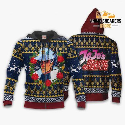 Jotaro Kujo Ugly Christmas Sweater Jojos Bizarre Adventure Anime Va11 Zip Hoodie / S All Over