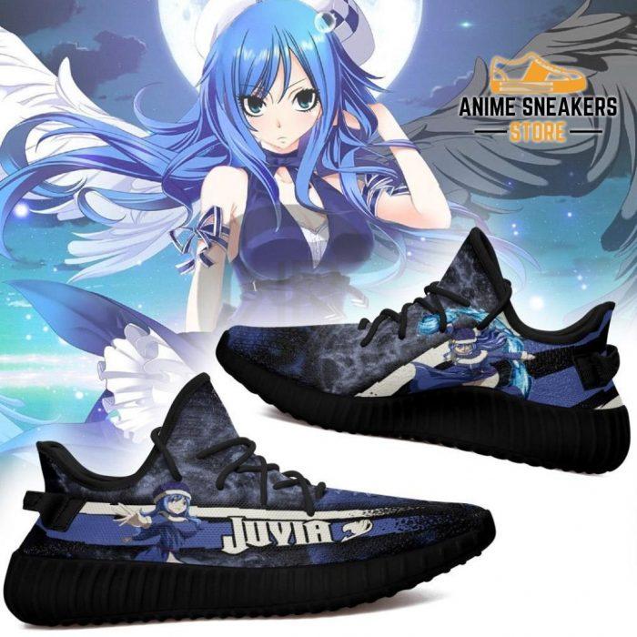Juvia Yeezy Shoes Custom Fairy Tail Anime Sneakers Fan Gift Idea Tt05