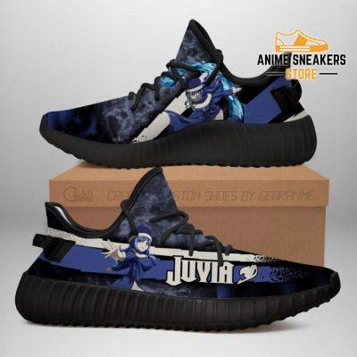 Juvia Yeezy Shoes Custom Fairy Tail Anime Sneakers Fan Gift Idea Tt05 Men / Us6