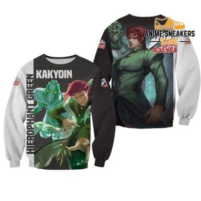 Kakyoin Hierophant Green Shirt Jojo Anime Hoodie Sweater / S All Over Printed Shirts