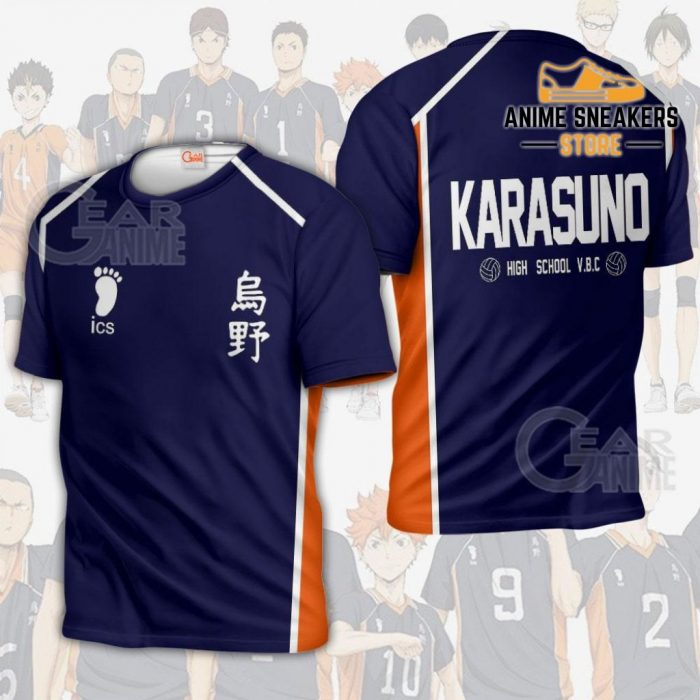 Karasuno Haikyuu Anime Cosplay Costumes T-Shirt / S All Over Printed Shirts