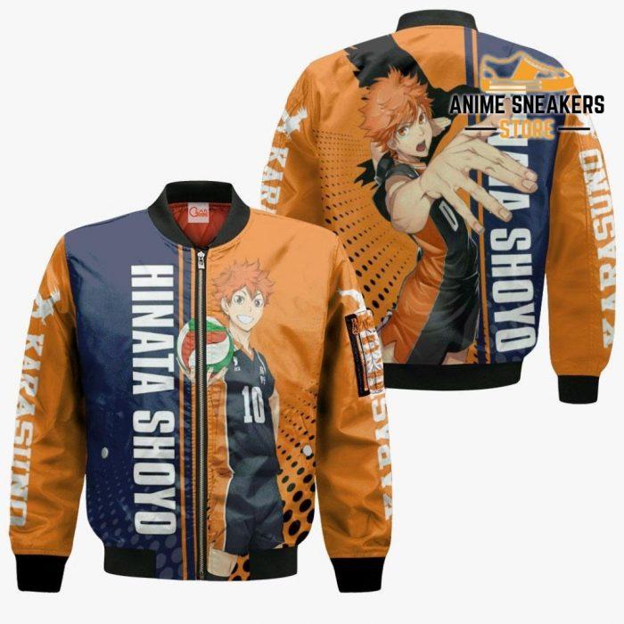 Karasuno Hinata Shoyo Hoodie Haikyuu Custom Anime Shirt Bomber Jacket / S All Over Printed Shirts