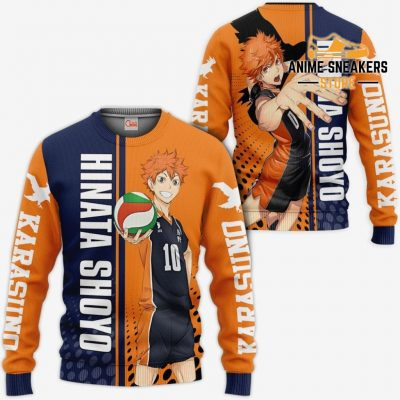Karasuno Hinata Shoyo Hoodie Haikyuu Custom Anime Shirt Sweater / S All Over Printed Shirts