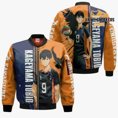 Karasuno Kageyama Tobio Hoodie Haikyuu Custom Anime Shirt Bomber Jacket / S All Over Printed Shirts