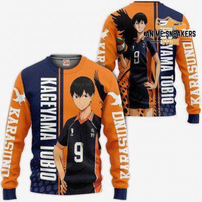 Karasuno Kageyama Tobio Hoodie Haikyuu Custom Anime Shirt Sweater / S All Over Printed Shirts
