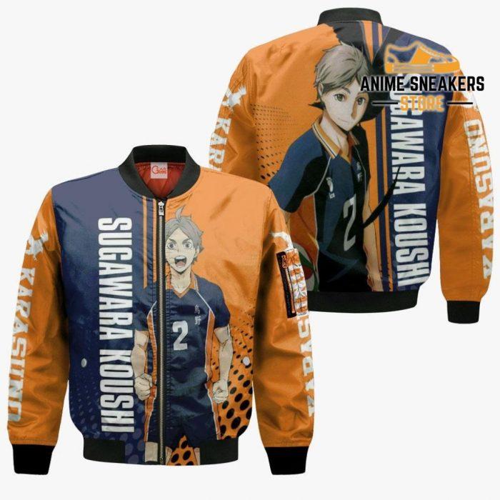 Karasuno Sugawara Koushi Hoodie Haikyuu Custom Anime Shirt Bomber Jacket / S All Over Printed Shirts