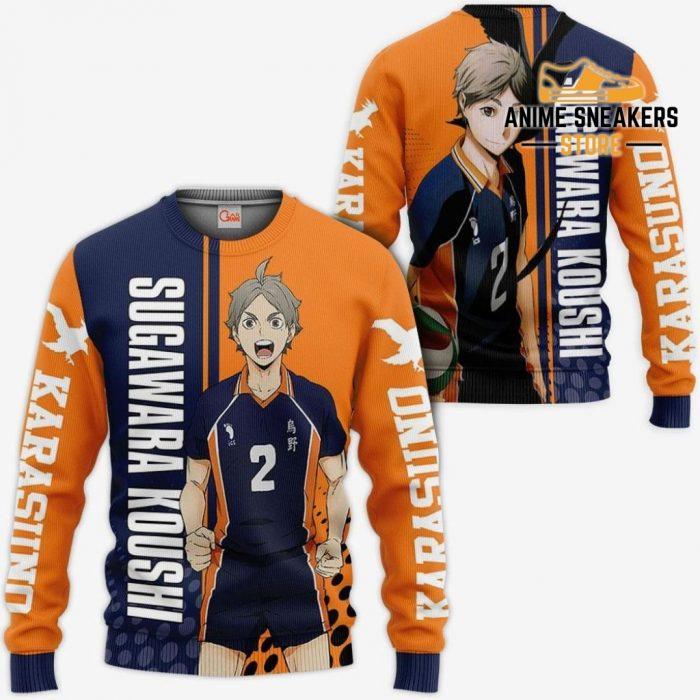 Karasuno Sugawara Koushi Hoodie Haikyuu Custom Anime Shirt Sweater / S All Over Printed Shirts