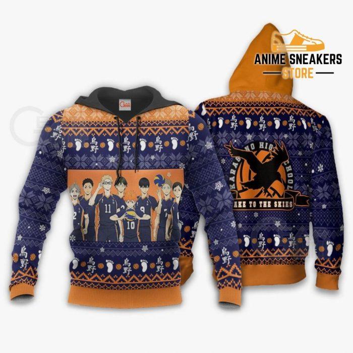 Karasuno Ugly Christmas Sweater Haikyuu Anime Xmas Shirt Va10 Hoodie / S All Over Printed Shirts