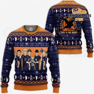 Karasuno Ugly Christmas Sweater Haikyuu Anime Xmas Shirt Va10 / S All Over Printed Shirts