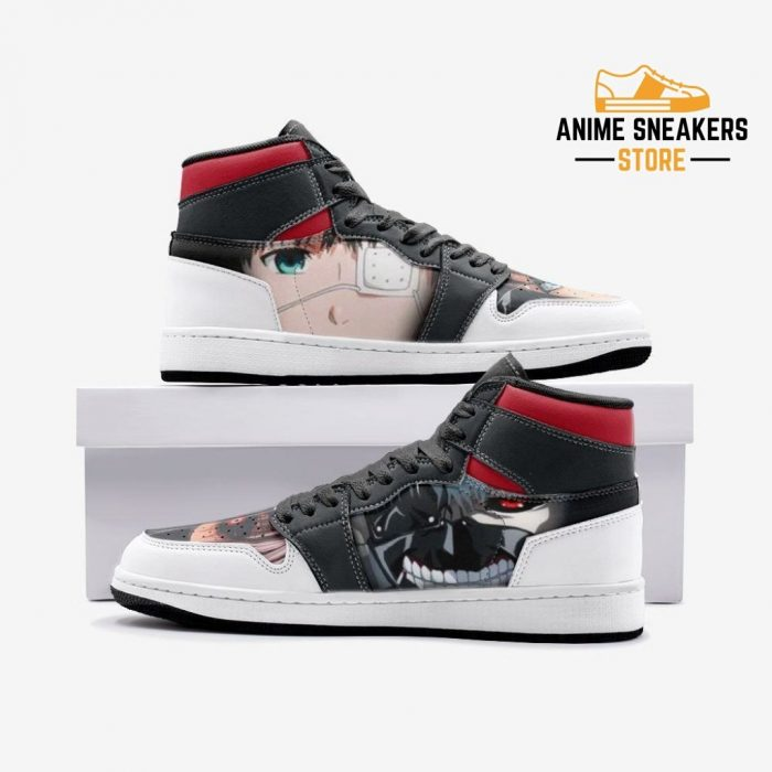 Ken Kaneki V2 Tokyo Ghoul Custom J-Force Shoes 3 / White Mens