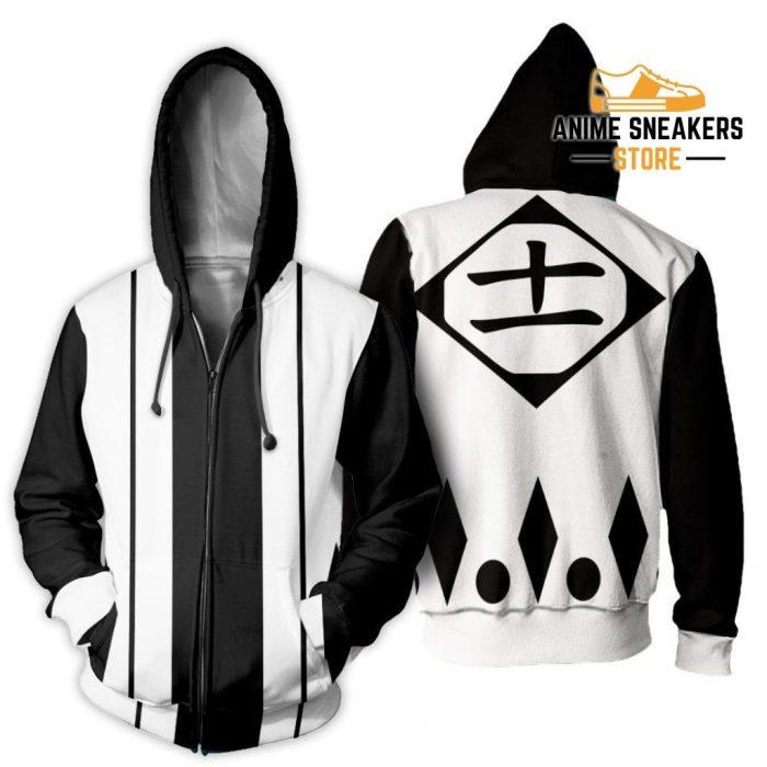 Kenpachi Zaraki Shirt Costume Bleach Anime Hoodie Sweater Zip / S All Over Printed Shirts