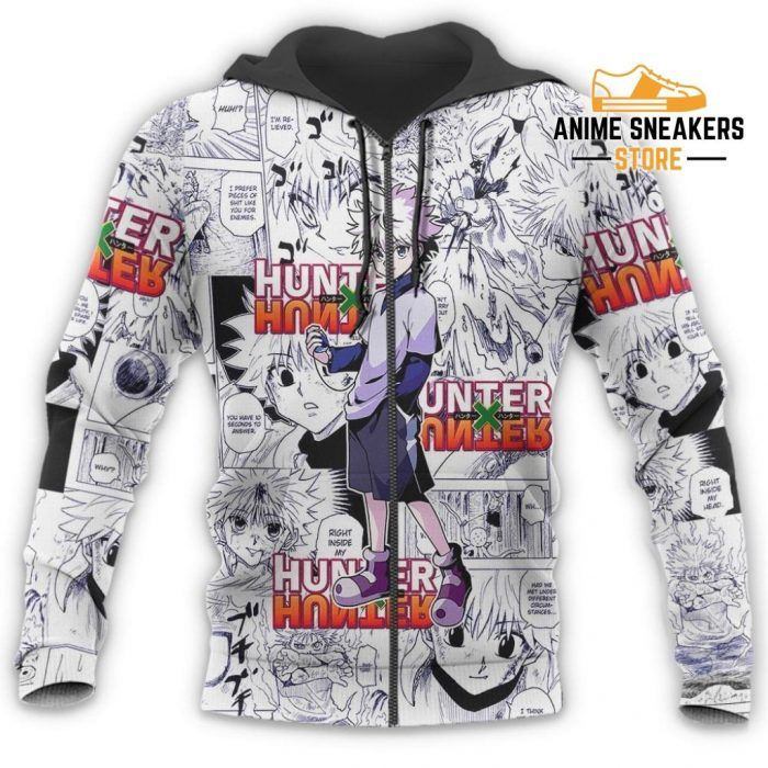 Killua Hunter X Shirt Sweater Hxh Anime Hoodie Manga Jacket All Over Printed Shirts