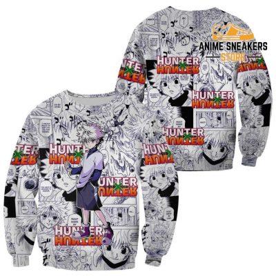 Killua Hunter X Shirt Sweater Hxh Anime Hoodie Manga Jacket / S All Over Printed Shirts