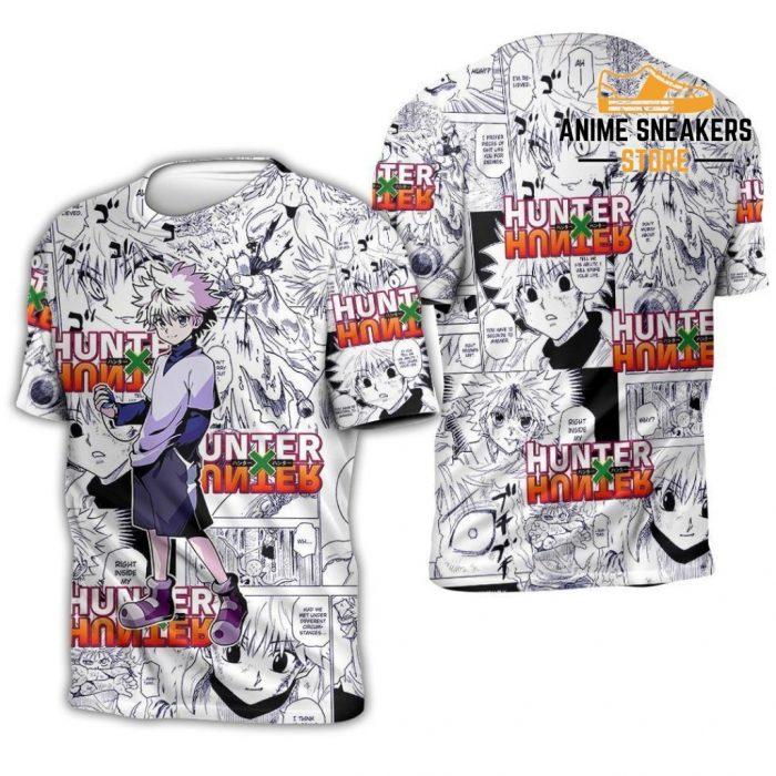 Killua Hunter X Shirt Sweater Hxh Anime Hoodie Manga Jacket T-Shirt / S All Over Printed Shirts