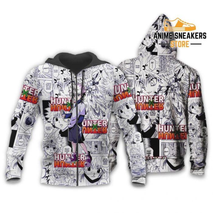 Killua Hunter X Shirt Sweater Hxh Anime Hoodie Manga Jacket Zip / S All Over Printed Shirts