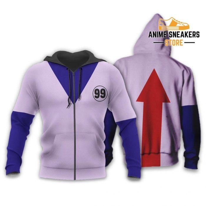 Killua Hunter X Uniform Shirt Hxh Anime Hoodie Jacket Zip / S All Over Printed Shirts