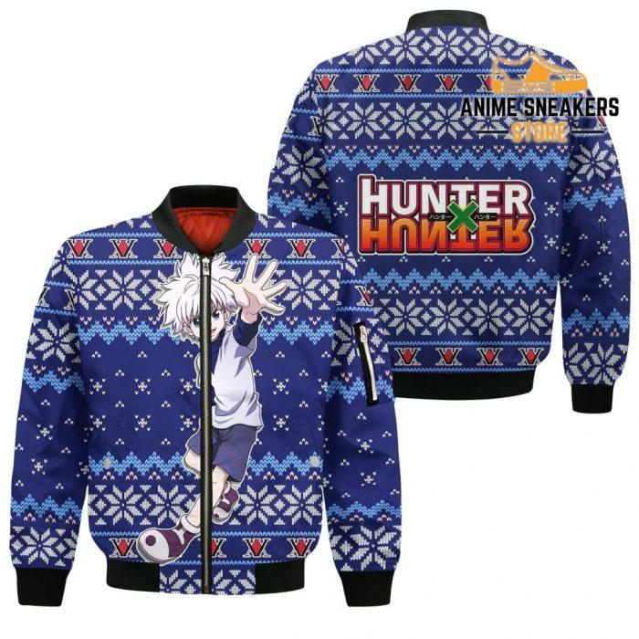 Killua Ugly Christmas Sweater Hunter X Anime Xmas Gift Custom Clothes Bomber Jacket / S All Over