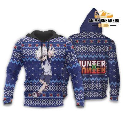 Killua Ugly Christmas Sweater Hunter X Anime Xmas Gift Custom Clothes Hoodie / S All Over Printed
