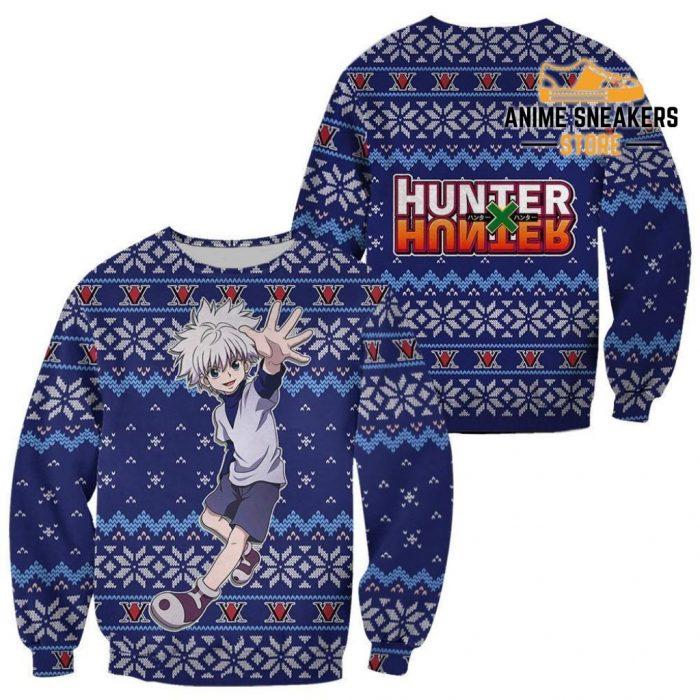 Killua Ugly Christmas Sweater Hunter X Anime Xmas Gift Custom Clothes / S All Over Printed Shirts