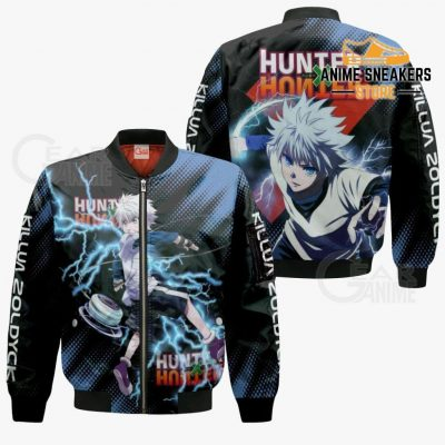 Killua Zoldyck Shirt Hunter X Custom Anime Hoodie Jacket Bomber / S All Over Printed Shirts