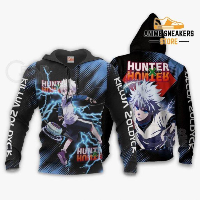 Killua Zoldyck Shirt Hunter X Custom Anime Hoodie Jacket / S All Over Printed Shirts